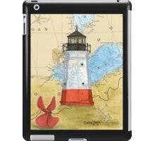 Vermillion Lighthouse OH Nautical Map Cathy Peek iPad Case/Skin