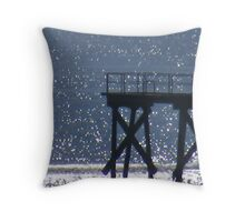 Port Noarlunga jetty Throw Pillow