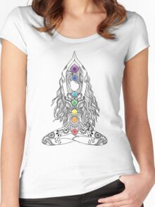 Yoga Om Chakras Mindfulness Meditation Zen 1 Women's Fitted Scoop T-Shirt