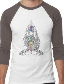 Yoga Om Chakras Mindfulness Meditation Zen 1 Men's Baseball ¾ T-Shirt
