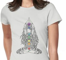 Yoga Om Chakras Mindfulness Meditation Zen 1 Womens Fitted T-Shirt