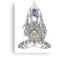 Yoga Om Chakras Mindfulness Meditation Zen 1 Canvas Print