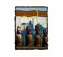 Easter Island Quidditch Art Print