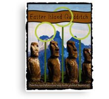 Easter Island Quidditch Canvas Print