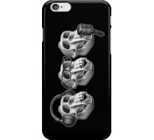 Hear Evil See Evil Speak Evil Monkey Skull iPhone Case/Skin