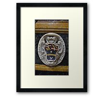 Coat of Arms in Marble. St. Paul's Cathedral, Mdina, Malta Framed Print