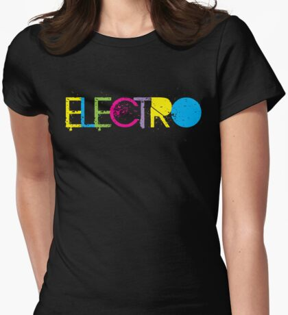 ELECTRO Womens Fitted T-Shirt