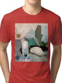 A boobie and a bear in a big city Tri-blend T-Shirt