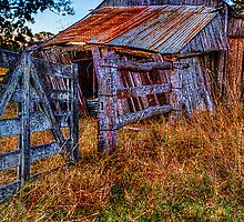 Country gate & shed by GeoffSporne