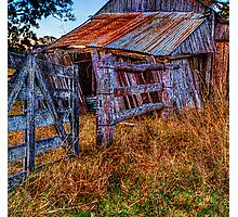 Country gate & shed Photographic Print