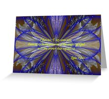 Joy in the Presence of the Angels Greeting Card
