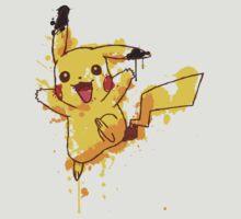 Pikachu Splatter by Keelin  Small