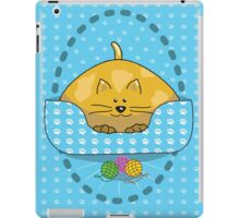 Cat Curled Up In Bed iPad Case/Skin