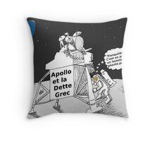 Neil ARMSTRONG : Apollo et la dette Grec Throw Pillow