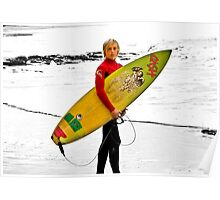 junior surfer Poster