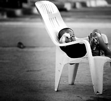 The Plastic chair Kid by Anthony Milnes