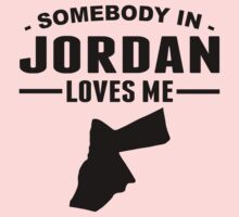 Somebody In Jordan Loves Me Kids Tee