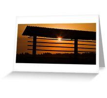 Hazy summer sunset Greeting Card