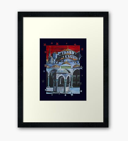 Sultan Ahmed Blue Mosque in Istanbul, Turkey Framed Print