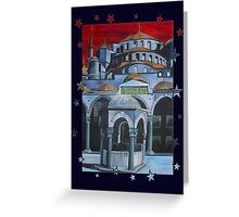 Sultan Ahmed Blue Mosque in Istanbul, Turkey Greeting Card