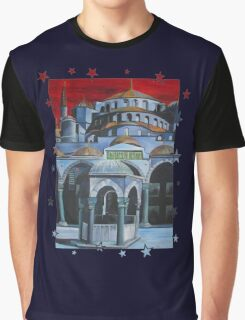 Sultan Ahmed Blue Mosque in Istanbul, Turkey Graphic T-Shirt
