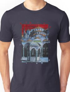 Sultan Ahmed Blue Mosque in Istanbul, Turkey Unisex T-Shirt