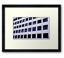 Urban Grid Framed Print