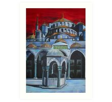 Sultan Ahmed Mosque, Istanbul Art Print