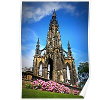 Scott Monument ~ Princes Street Edinburgh Poster