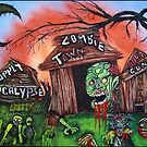 Zombie Town - Horror Art Prints by Laura Barbosa