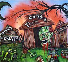 Zombie Town - Horror Art Prints by Laura Barbosa