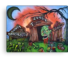 Zombie Town - Horror Art Prints Canvas Print