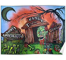 Zombie Town - Horror Art Prints Poster
