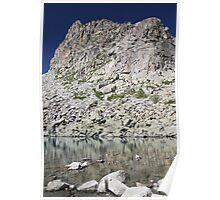 Glacial lake on Alps Poster
