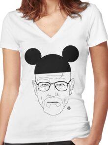 Walt Disney Women's Fitted V-Neck T-Shirt