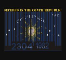 Conch Republic Barcode Flag Seceded in the  by Netsrotj