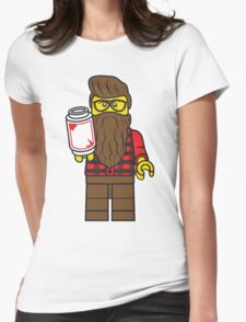 Hipster Mini Fig Womens Fitted T-Shirt