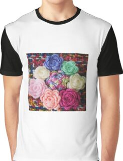 Crocheted Roses Graphic T-Shirt