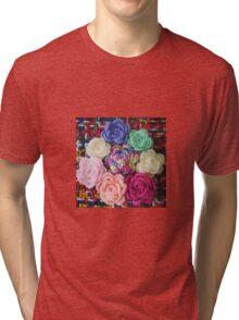 Crocheted Roses Tri-blend T-Shirt