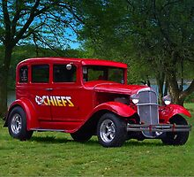 1931 Studebaker Sedan Hot Rod - KC Chiefs Fan  by TeeMack