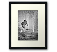 Wet Fun Framed Print