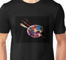 ARTIST COLOUR PALETTE AND BRUSHES Unisex T-Shirt