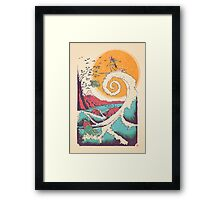 Surf Before Christmas Framed Print