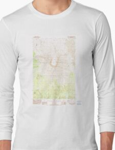 USGS Topo Map Washington State WA Mount St Helens 242550 1983 24000 Long Sleeve T-Shirt