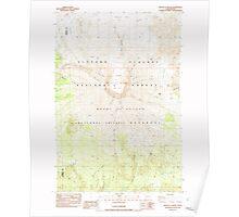 USGS Topo Map Washington State WA Mount St Helens 242550 1983 24000 Poster