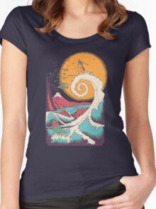 Surf Before Christmas Women's Fitted Scoop T-Shirt
