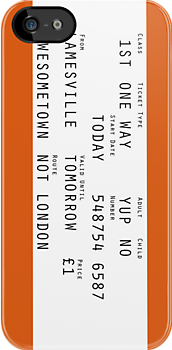 Train Ticket - iPhone and iPod Case by 4ogo Design