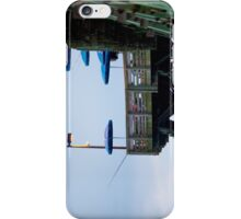 Pier with Blue Umbrella iPhone Case/Skin