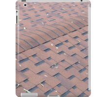 Top view of brown roof shingles with a few fallen leaves iPad Case/Skin