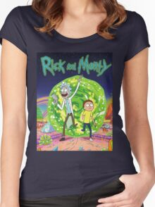 Rick and Morty Tv Series Women's Fitted Scoop T-Shirt